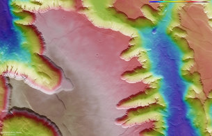 Noctis Labyrinthus topography