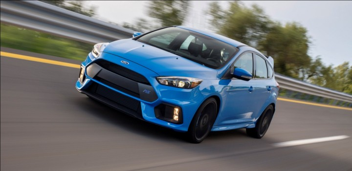 The new 350 horsepower Ford Focus RS should be unique player in hot hatchback game, because of its AWD system, Drift mode and launch control system. This car reaches speed of 100 km/h in just 4.7 seconds. Image credit: media.ford.com.