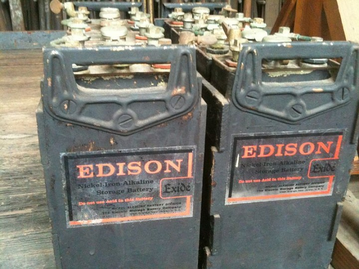 Traditional Thomas Edison's nickel–iron batteries are quite old now, but they may make a return as scientists think they would be a good green energy storage solution. Image credit: User:z22 via Wikimedia, CC-BY-SA-3.0