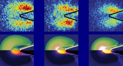Visualization of energy flow in fast ignition experiments is made possible by the use of copper tracers and a high-tech X-ray imaging system. Image credit: High Energy Density Physics Group, UC San Diego
