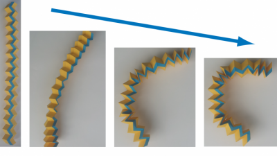Localized distortion in the origami tube can be used to bend the tube, which was initially straight, like a drinking straw.