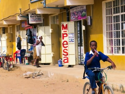 M-Pesa uses a network of small merchants who enable Kenyans to transfer money by cell phone and text. But similar mobile money services have been difficult to launch in other countries. Image credit: Brian Harries, flickr