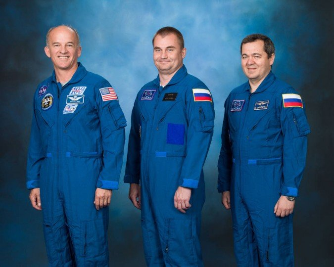 NASA astronaut Jeff Williams and cosmonauts Alexey Ovchinin and Oleg Skripochka of Roscomos (Russian Federal Space Agency) will launch to the space station aboard a Soyuz TMA-20M spacecraft March 18, 2016 from the Baikonur Cosmodrome in Kazakhstan.