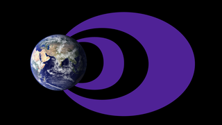 (Illustration) The traditional idea of the radiation belts includes a larger, more dynamic outer belt and a smaller, more stable inner belt with an empty slot region separating the two. However, a new study based on data from NASA's Van Allen Probes shows that all three regions — the inner belt, slot region and outer belt — can appear different depending on the energy of electrons considered and general conditions in the magnetosphere. Credits: NASA Goddard/Duberstein
