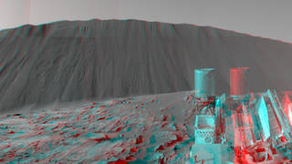"""This Dec. 17, 2015, view combines multiple images from the telephoto-lens camera of the Mast Camera (Mastcam) on NASA's Curiosity Mars rover to reveal fine details of the downwind face of """"Namib Dune."""" Credits: NASA/JPL-Caltech/MSSS"""