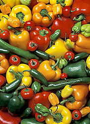 ARS scientists evaluated different types of peppers for attributes that prolong the shelf life of fresh-cut peppers
