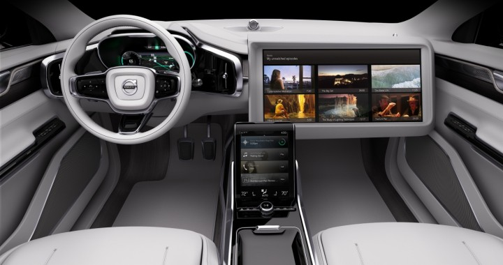 Sit back and relax, watching your favourite content tailored precisely to your route, while your Volvo takes you to your desired destination. Image credit: media.volvocars.com