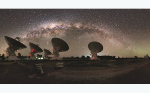 CSIRO's Compact Array telescope picked the FRB's afterglow. © Alex Cherney