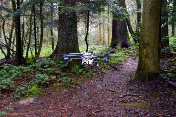Drones with artificial intelligence software can recognize human trails and follow them. Next step is to teach them to recognize humans and to respond to finding them. Image credit: UZH; USI; SUPSI, mediadesk.uzh.ch.