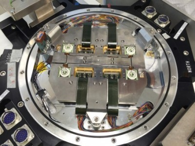 A view of the focal plate for the Mosaic-3 camera. Image credit: Tom Hurteau, Yale University Physics Department