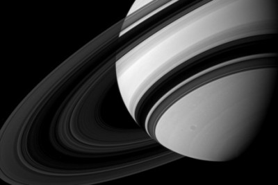 Cornell's Philip Nicholson and Matthew Hedman, professor of physics at the University of Idaho confirm that Saturn's B-ring is as lightweight as it is opaque. Image credit: NASA/JPL/Space Science Institute