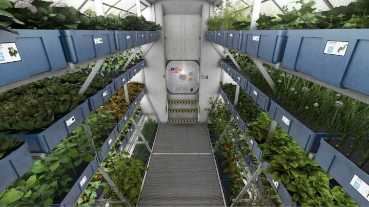 Engineering concept of a plant growth module. Credits: NASA/Langley