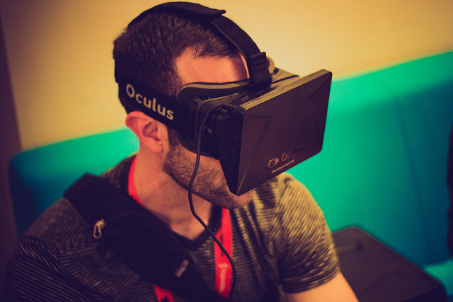 The highly-anticipated virtual reality headset Oculus Rift begins shipping on March 28, 2016 to 20 countries. The company says it's doing everything it can to process orders, with the first units going to early backers on Kickstarter. Image credit: Nan Plamero via flickr.com, CC BY 2.0.