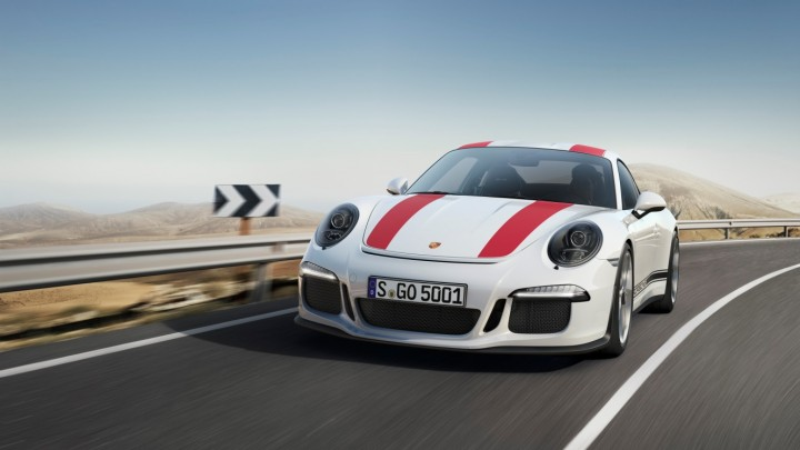 The new Porsche 911 R is the lightest 911 currently available and is meant for passionate drivers. Image credit: press.porsche.com.