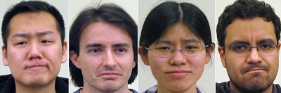 """Researchers at The Ohio State University have identified a single, universal facial expression that is interpreted across many cultures as the embodiment of negative emotion. The look proved identical for native speakers of English, Spanish, Mandarin Chinese and American Sign Language (ASL). It consists of a furrowed brow, pressed lips and raised chin, and because we make it when we convey negative sentiments, such as """"I do not agree,"""" researchers are calling it the """"not face."""" Image Credit: Ohio State University."""