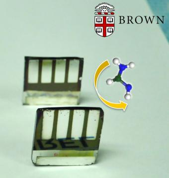 Researchers have developed a simple method for converting one type of perovskite to another form that's better able to take the heat of a solar panel. Image credit: Padture Lab / Brown University