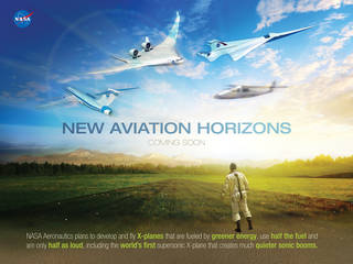 NASA plans to design, build and fly a series of X-planes to test advanced green aviation technologies. Credits: NASA / Maria C. Werries