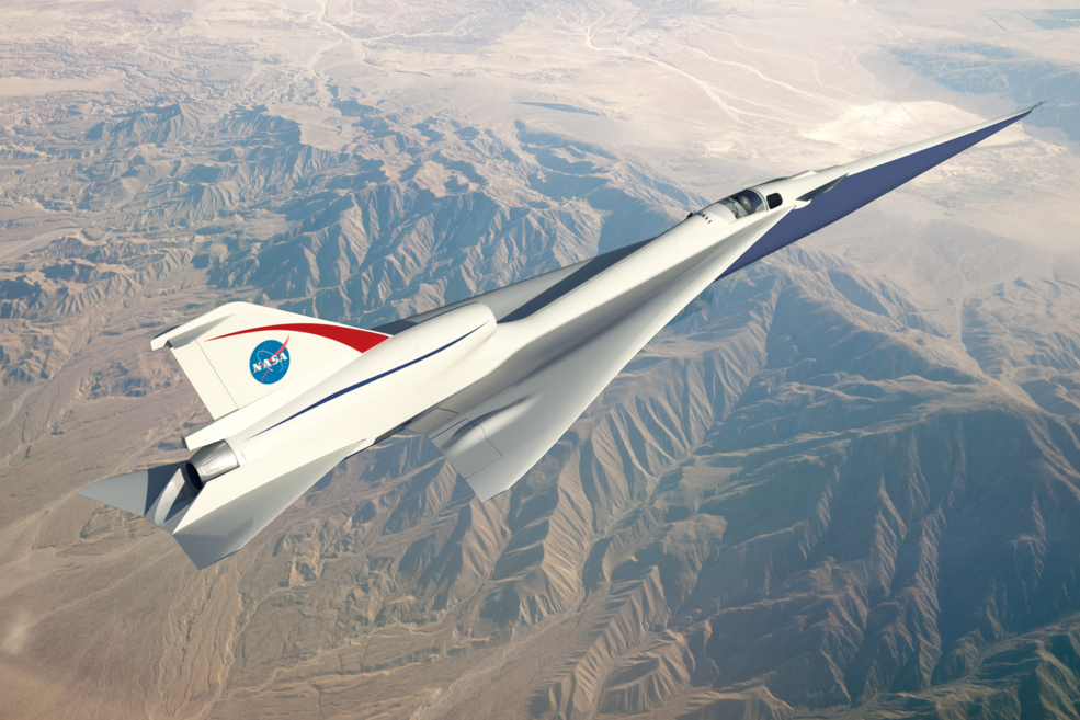 The Quiet Supersonic Technology, or QueSST, concept is in the preliminary design phase and on its way to being one of NASA's first X-planes. Credits: NASA