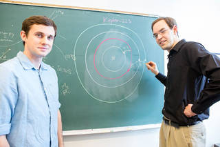 Sean Mills (left) and Daniel Fabrycky (right), researchers at the University of Chicago, describe the complex orbital structure of the Kepler-223 system in a new study. Credits: Nancy Wong/University of Chicago