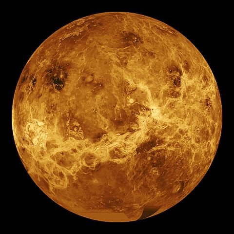 Venus once had oceans of water, but all of them evaporated because of high temperature and then were pushed out of the atmosphere by electric winds. Image credit: NASA via Wikimedia, Public Domain