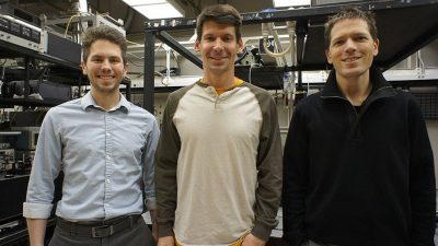 From left to right: Michael Kudenov, Jeff Stirman and Spencer Smith. Credit: NC State University