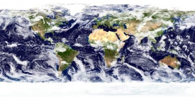 Satellite image of cloud cover. Image credit: NASA