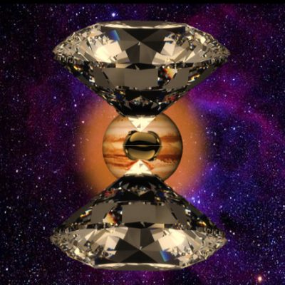 Harvard researchers observed evidence of the transition of hydrogen to metallic hydrogen by squeezing a sample of liquid hydrogen between two diamond tips. Image courtesy of Mohamed Zaghoo/Harvard SEAS
