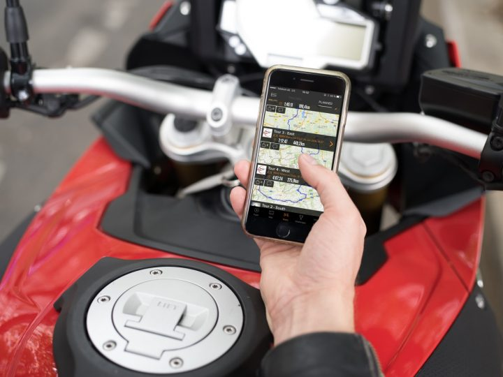 Rever application helps planning the journey, tracking its progress and sharing experiences with other members of the global motorcyclists' community. Image credit: press.bmwgroup.com.
