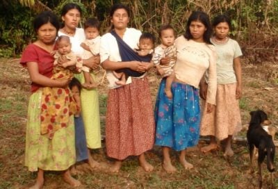 Tsimane women with babies. Image credit: Lisa Mcallister