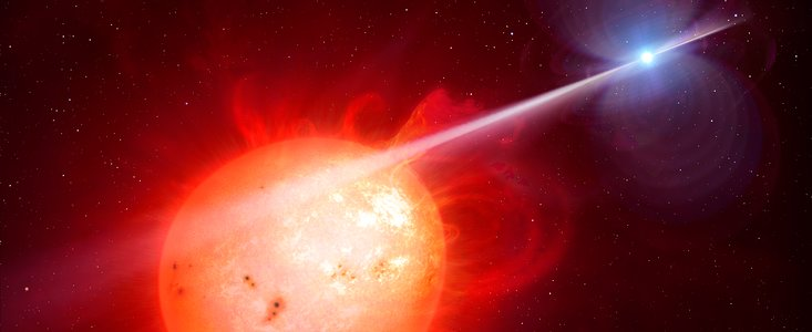 Astronomers using ESO's Very Large Telescope, along with other telescopes on the ground and in space, have discovered a new type of exotic binary star. In the system AR Scorpii a rapidly spinning white dwarf star powers electrons up to almost the speed of light. These high energy particles release blasts of radiation that lash the companion red dwarf star, and cause the entire system to pulse dramatically every 1.97 minutes with radiation ranging from the ultraviolet to radio. The research will be published in the journal Nature on 28 July 2016.