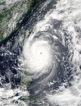 Typhoon Nepartak begins to make landfall in Southeast Asia. An investigation on the space station, Tropical Cyclone, collected data on this storm from space. Combined with information on sea-level surface temperatures and air pressure, scientists hope to more accurately predict the wind speed, strength and intensities of future cyclones prior to landfall. This information would assist emergency responders and coastal residents to better prepare for oncoming storms. Credits: NASA