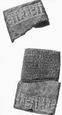 An example of an Old Assyrian period clay tablet containing the text of a legal record. Image courtesy of Yale Babylonian Collection