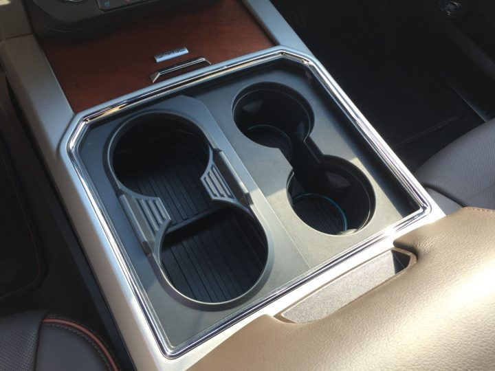 Cup holder prepared to hold four cups. Image credit: media.ford.com.