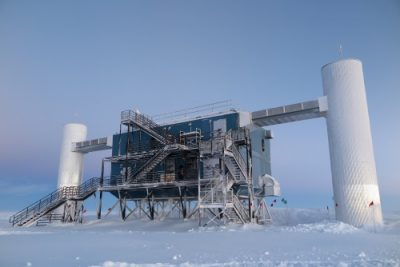 The IceCube Laboratory at the Amundsen-Scott South Pole Station in Antarctica.