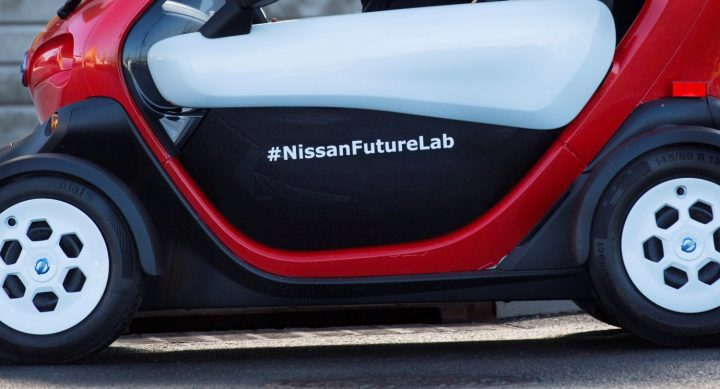 Nissan Future Lab is testing new ideas for the car sharing services as well as new uses for electric cars. Image credit: nissannews.com.