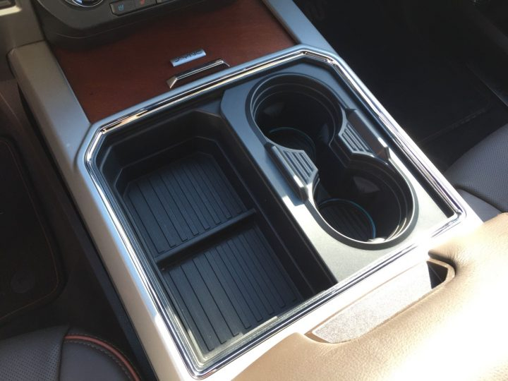 The cup holder in a normal configuration. Image credit: media.ford.com.