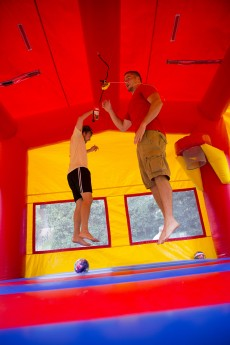 Researchers at UGA looked at hazards relating to bounce houses. Last July, they found that air temperatures inside a bounce house were consistently greater than ambient conditions.