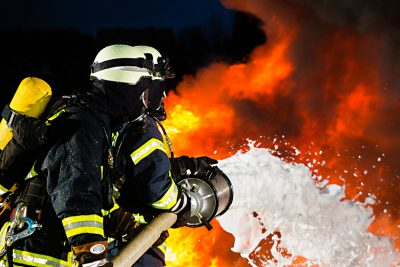Fire-fighting foam contains carcinogens that have been found to contaminate drinking water supplies around some military bases and industrial sites