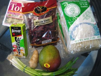A shopper's purchase from United Noodles, an Asian grocery in Minneapolis, Minnesota. Image credit: Flicker   Stacy Spensley