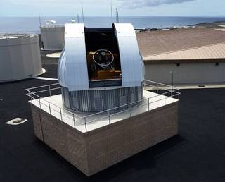 The John Africano NASA/Air Force Research Laboratory Orbital Debris Observatory houses the 20 thousand pound Meter Class Autonomous Telescope (MCAT) on Ascension Island. Credits: Dr. Susan Lederer, NASA