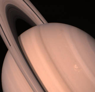 Up-close views from the Voyagers, like this one from Voyager 2, showed Saturn and its rings as never before. Credits: NASA/JPL-Caltech