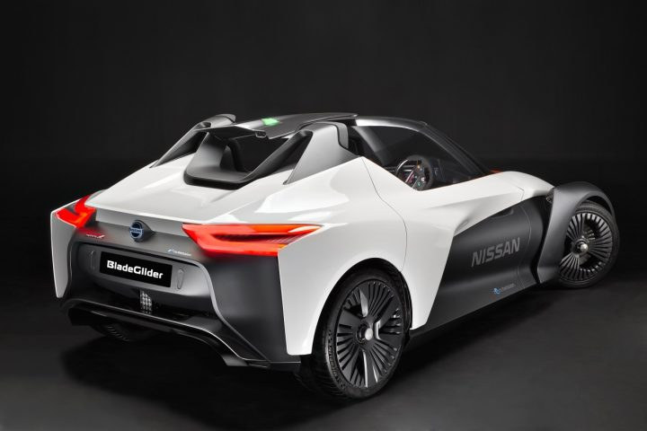 This is the angle for other road users to enjoy as fully-electric BladeGlider can reach 100km/h in less than 5 seconds. Image credit: nissannews.com.