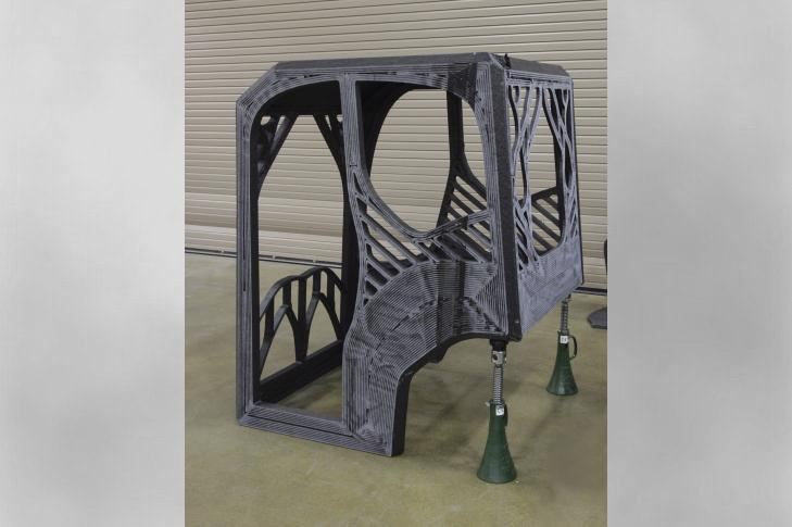 The first-ever 3D printed excavator will include a cab designed by a University of Illinois at Urbana-Champaign student engineering team and printed at DOE's Manufacturing Demonstration Facility at ORNL using carbon fiber-reinforced ABS plastic.