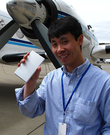 Brookhaven Lab atmospheric chemist Jian Wang, one of the leaders of the study reported in Nature. Credit: ARM