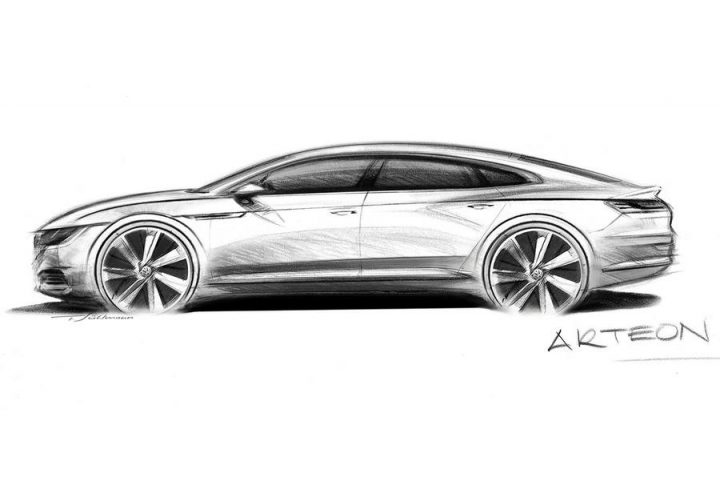 Volkswagen Arteon should be a substantial design statement when it comes out early next year. Image credit: volkswagen-media-services.com.
