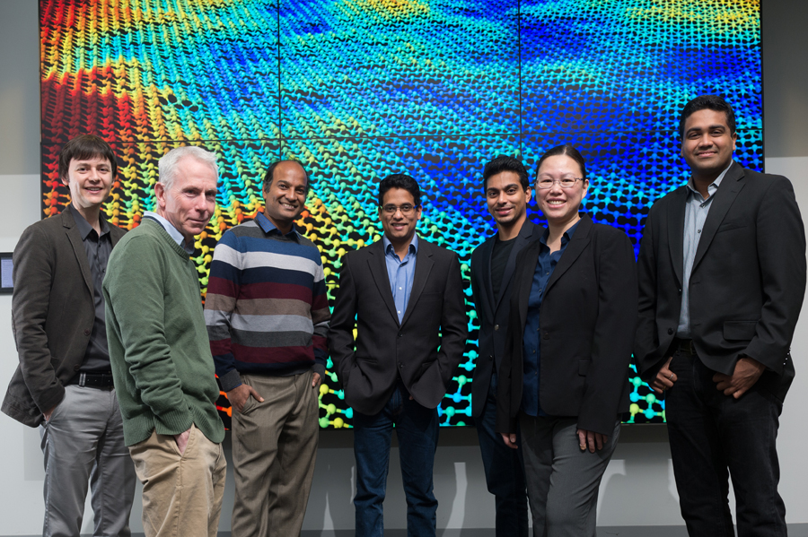The Argonne research team that has pioneered the use of machine learning tools in 2-D material modeling. (Image by Wes Agresta/Argonne National Laboratory.)