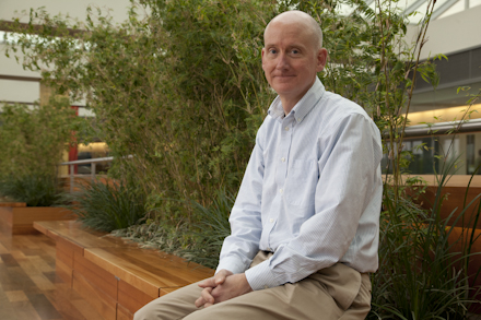Emphasizing the important role that nonhuman primates played in his groundbreaking research, James Thomson said he came to UW–Madison in large part because it housed the Wisconsin National Primate Research Center. Image credit: Morgridge Institute for Research