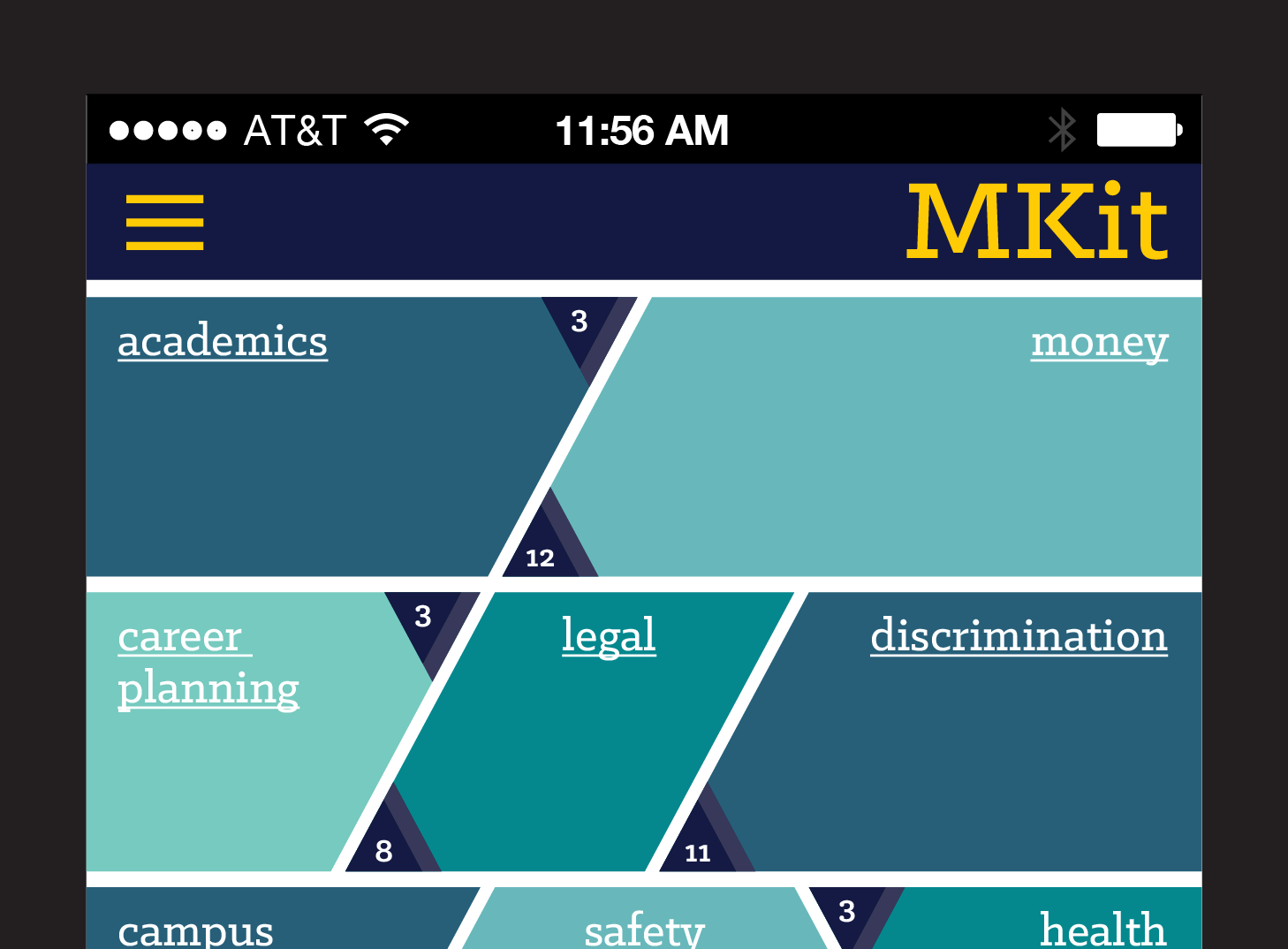 MKit app. Image credit: University of Michigan