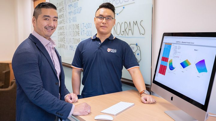 Professor Dean Ho (left) and Mr Theodore Kee (right) from the National University of Singapore, together with their translational research team, harnessed CURATE.AI to successfully treat a patient with advanced cancer, completely halting disease progression.
