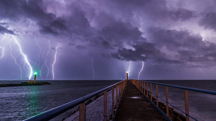 Storm and lightnings. Image credit: maxime raynal via Flickr, CC BY 2.0